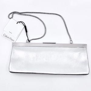 NWT Calvin Klein leather clutch